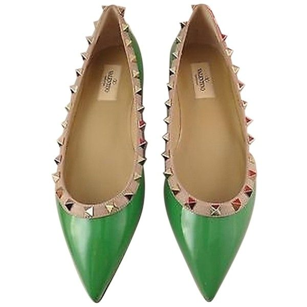 Pre-owned - Rockstud patent leather ballet flats Valentino EPeT8