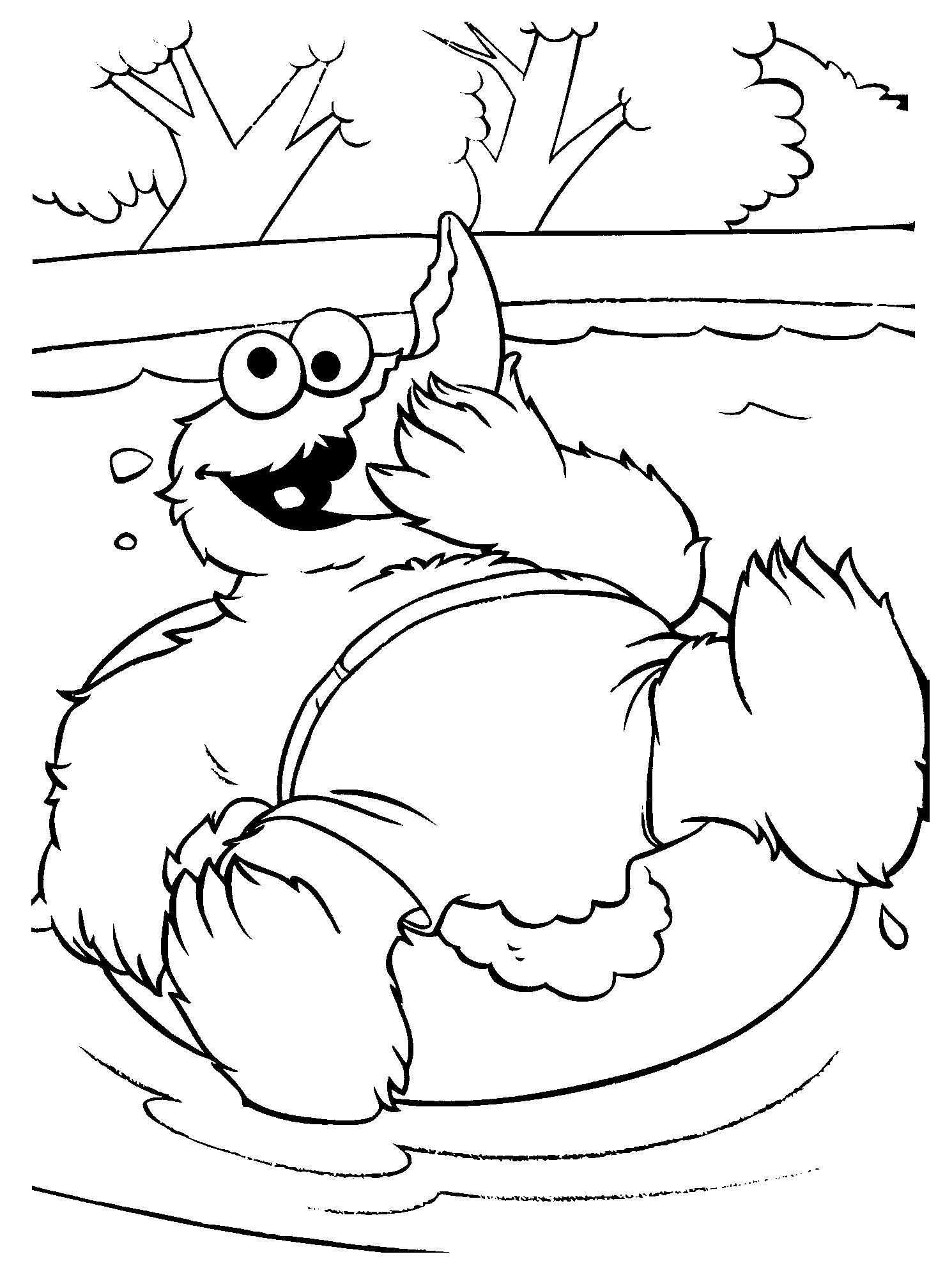cookie monster tubing coloring pages coloring pages sesame