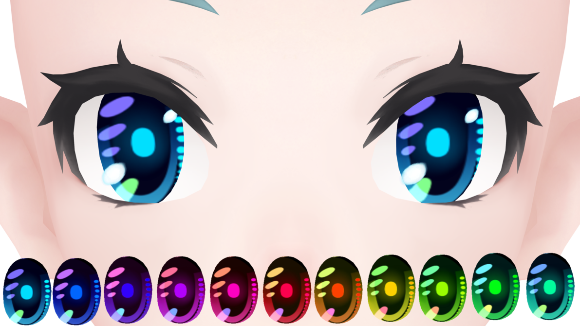 MMD] Cyber Eyes Download by DannaMMD | mmd | Eye texture
