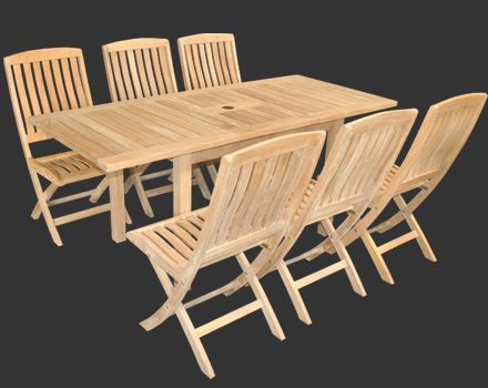 this a grade teak set features the toscana folding table with 2 of rh pinterest it