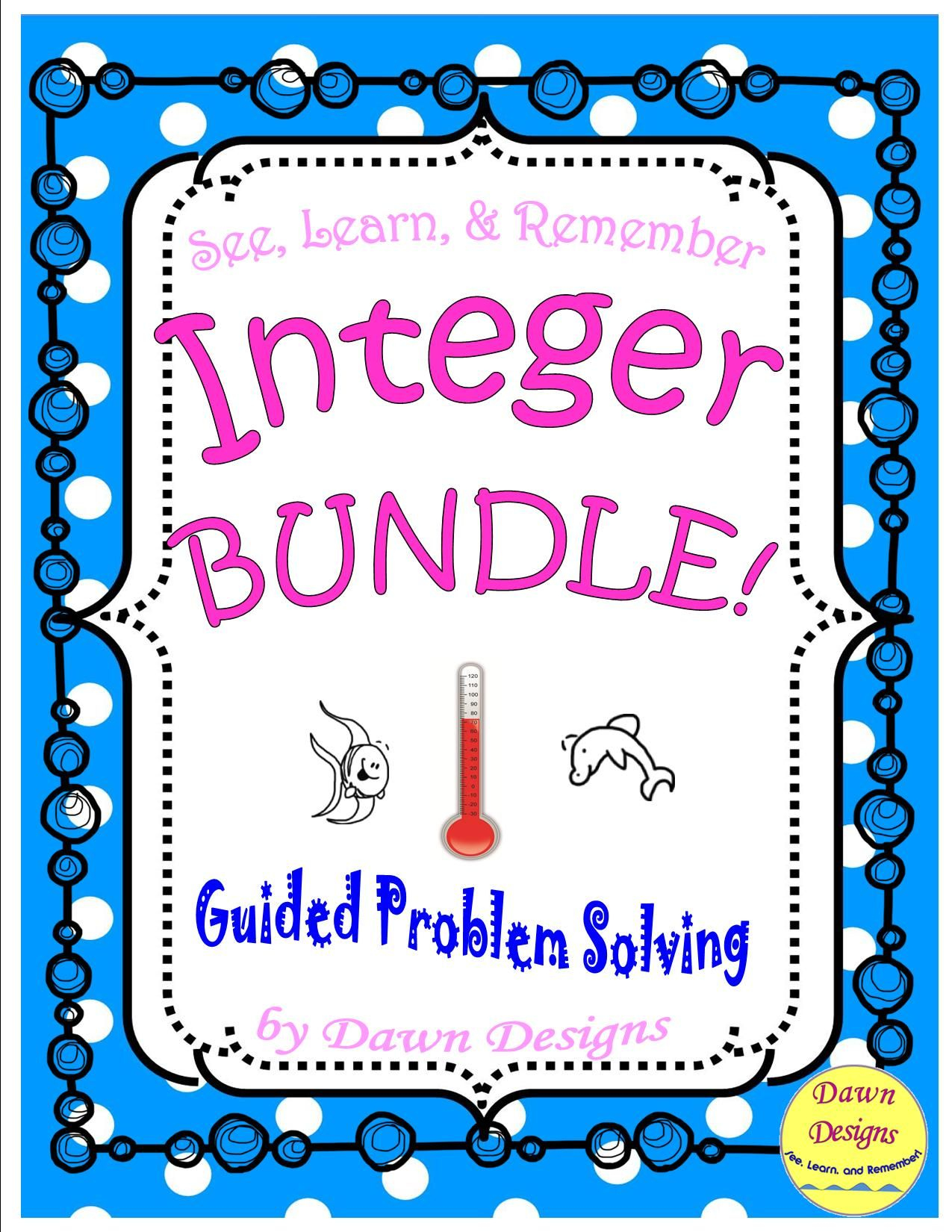 Integer Worksheet Bundle Of Operations