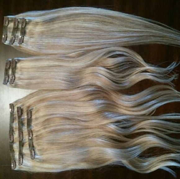 20 Blonde Cashmere Hair Extensions 20 Inches 200 Grams Sunset