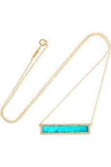 Jennifer Meyer 18-karat Gold, Diamond And Turquoise Necklace