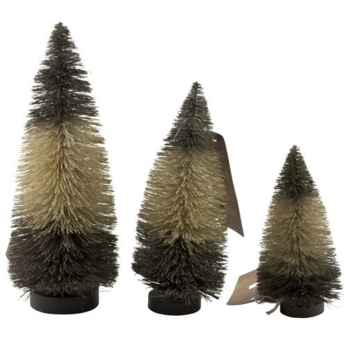 Paint the tops of some clearance white Christmas trees for cheaper - christmas clearance decor