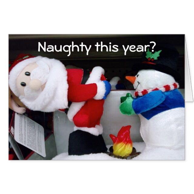 NAUGHTY THIS YEAR? CHRISTMAS CARD