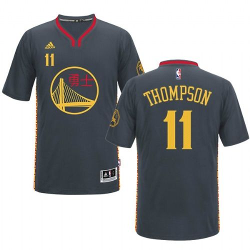 2c07572ac Golden State Warriors  11 Klay Thompson Chinese Characters Jersey ...
