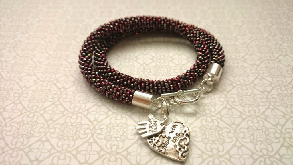 Beaded rope - a double-wrap bracelet