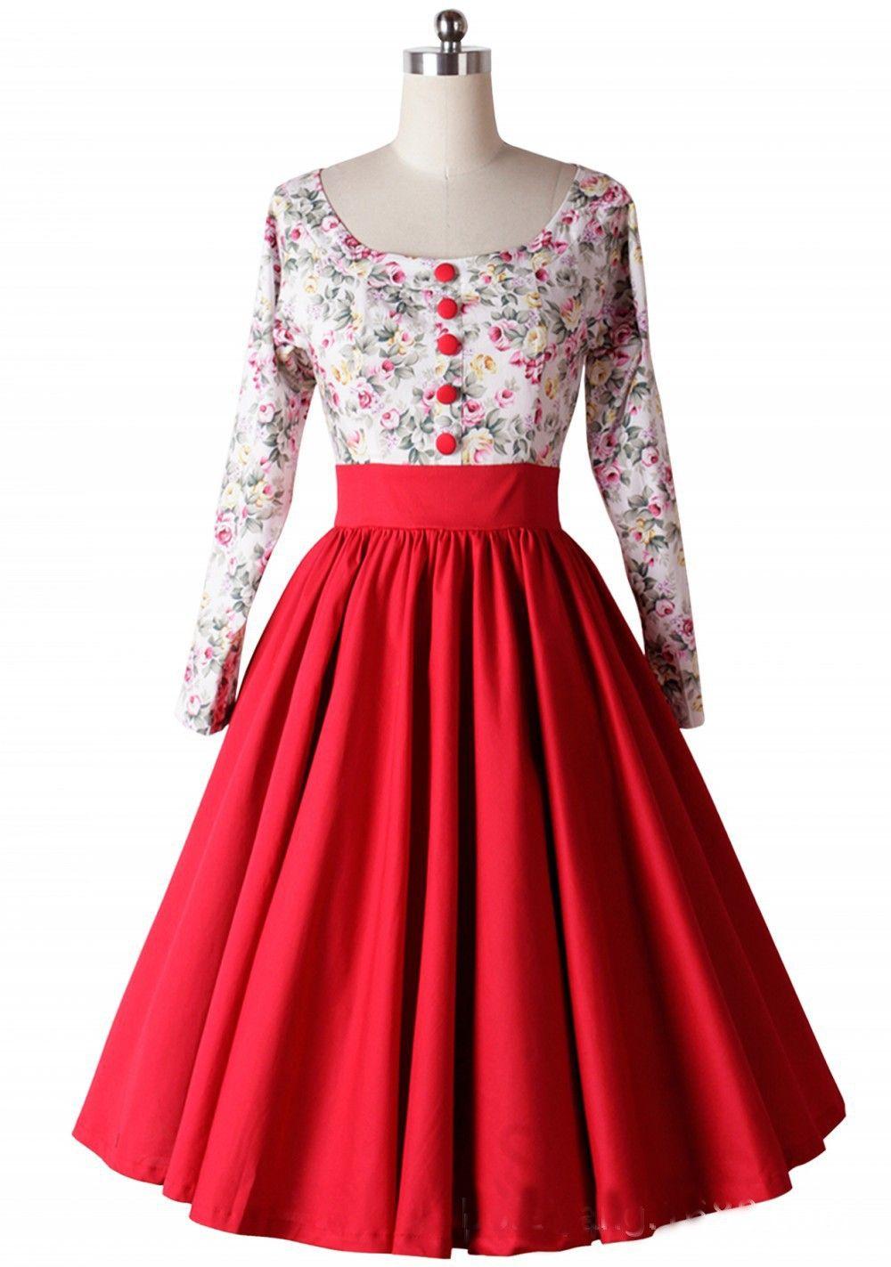 audrey hepburn style floral impression 50 s rétro robe