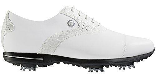 FootJoy Tailored Golf Shoes 2016 Ladies White Croc Medium 6 -- Click image  for more details. ffb7494ea9b