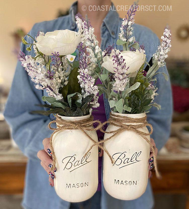25+ Chalk paint mason jars inspirations