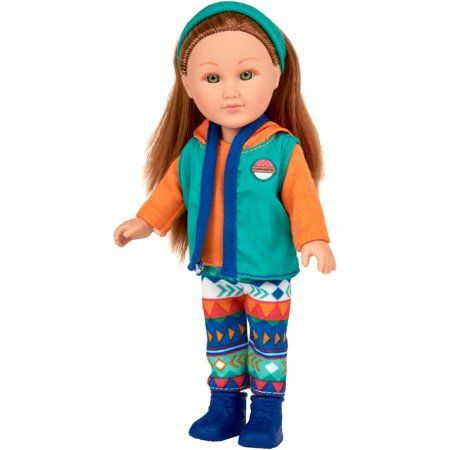 """My Life As 7/"""" Mini Outdoorsy Red Hair Girl Doll"""