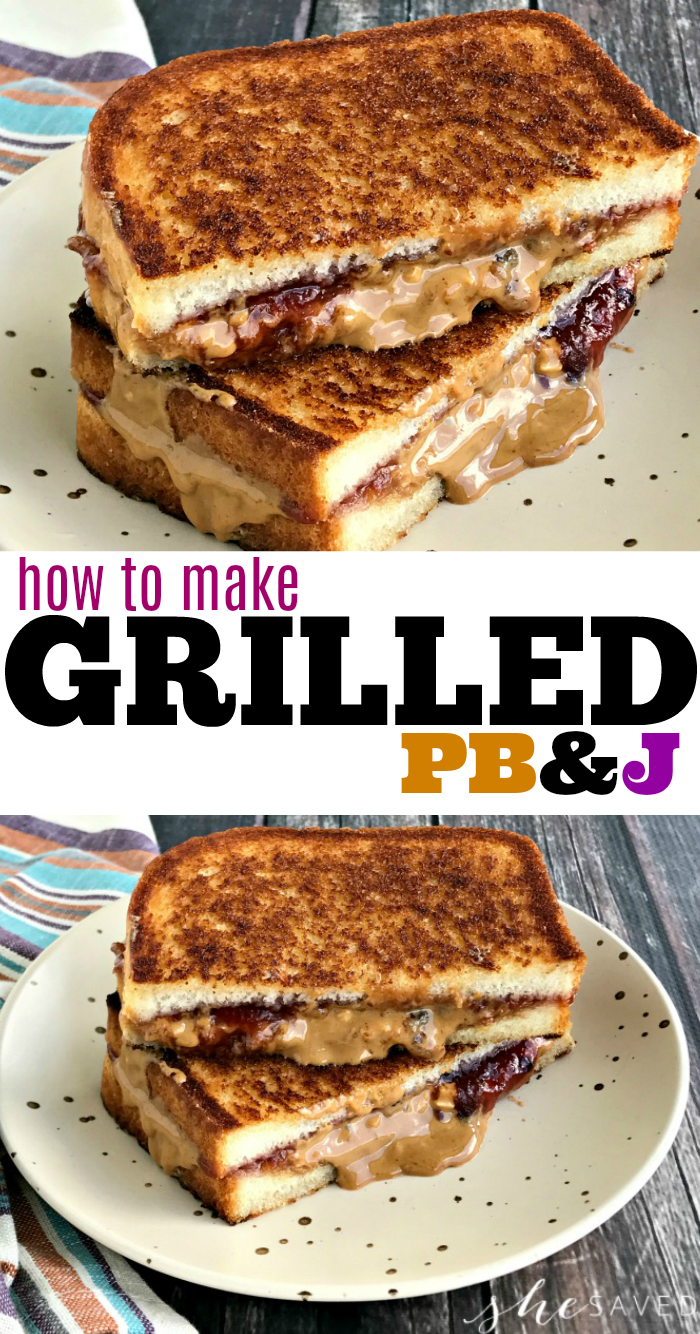 how to make a grilled peanut butter and jelly sandwich