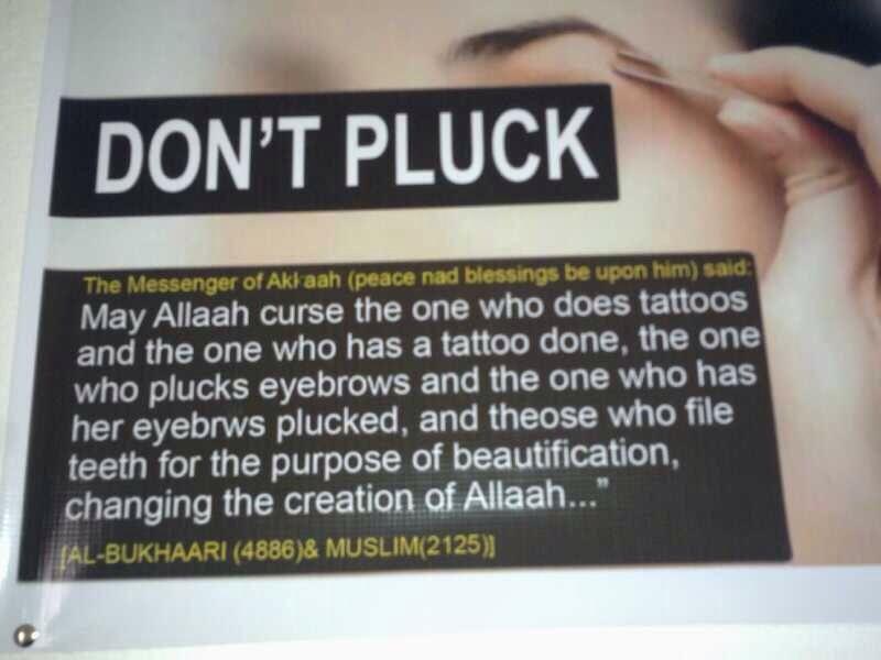 Hadith On Plucking Eyebrows Tattoos Filing Teeth Bukhari
