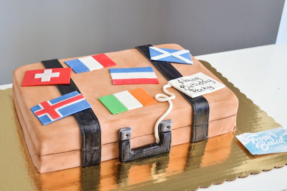 Suitcase Birthday Cake Roanoke Virginia Birthday Cakes Roanoke Va