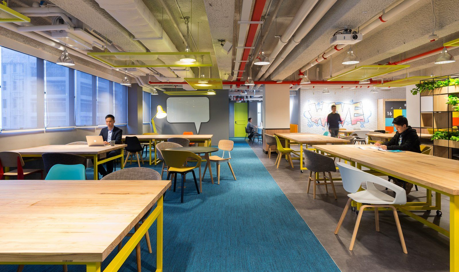 Office space in hong kong 9gag Spatial Concept Has Designed The New Coworking Office Space The Wave Located In Hong Kong The Wave Coworking Space Provides Platform To Start Ups And Hong Kong Serviced Office Space Rental Agents Office Tour The Wave Coworking Offices Hong Kong Office Design