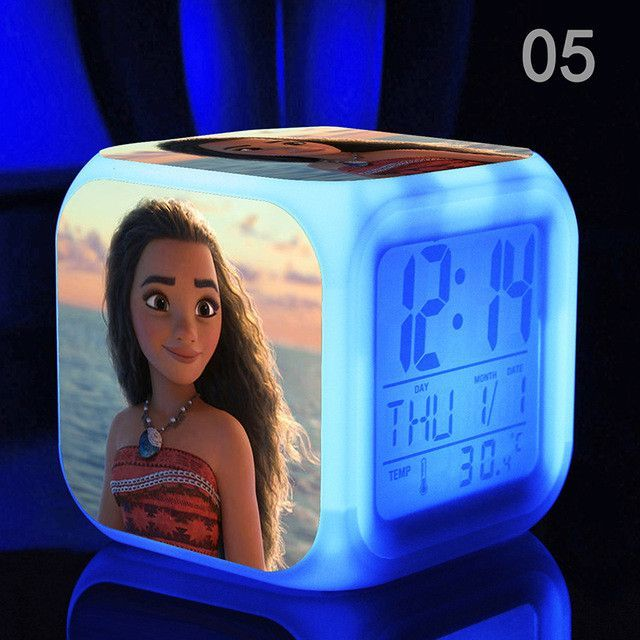 Disney's Moana Princess Anime LED Alarm Clock | bella room ...