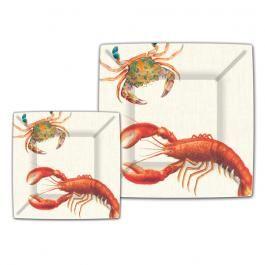 Michel Design Works - Lobster Dinner Paper Plates - Tropical Fish / Shells - Coastal -  sc 1 st  Pinterest & Michel Design Works - Lobster Dinner Paper Plates - Tropical Fish ...