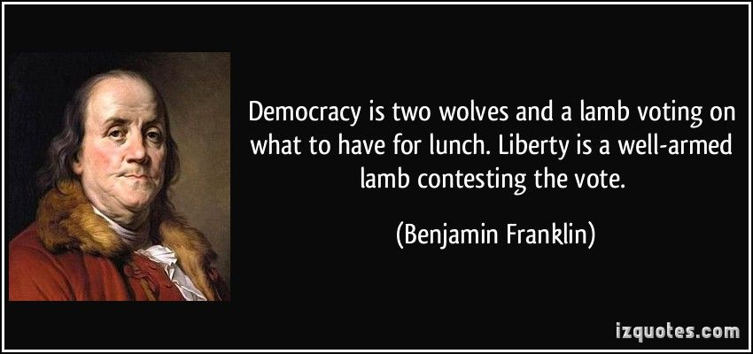 Image result for benjamin franklin democracy quote