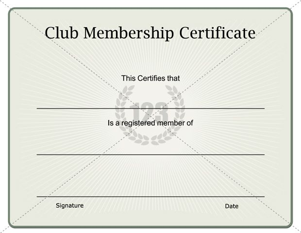 Unique Club Membership Certificate Download - 123Certificate - membership certificate templates