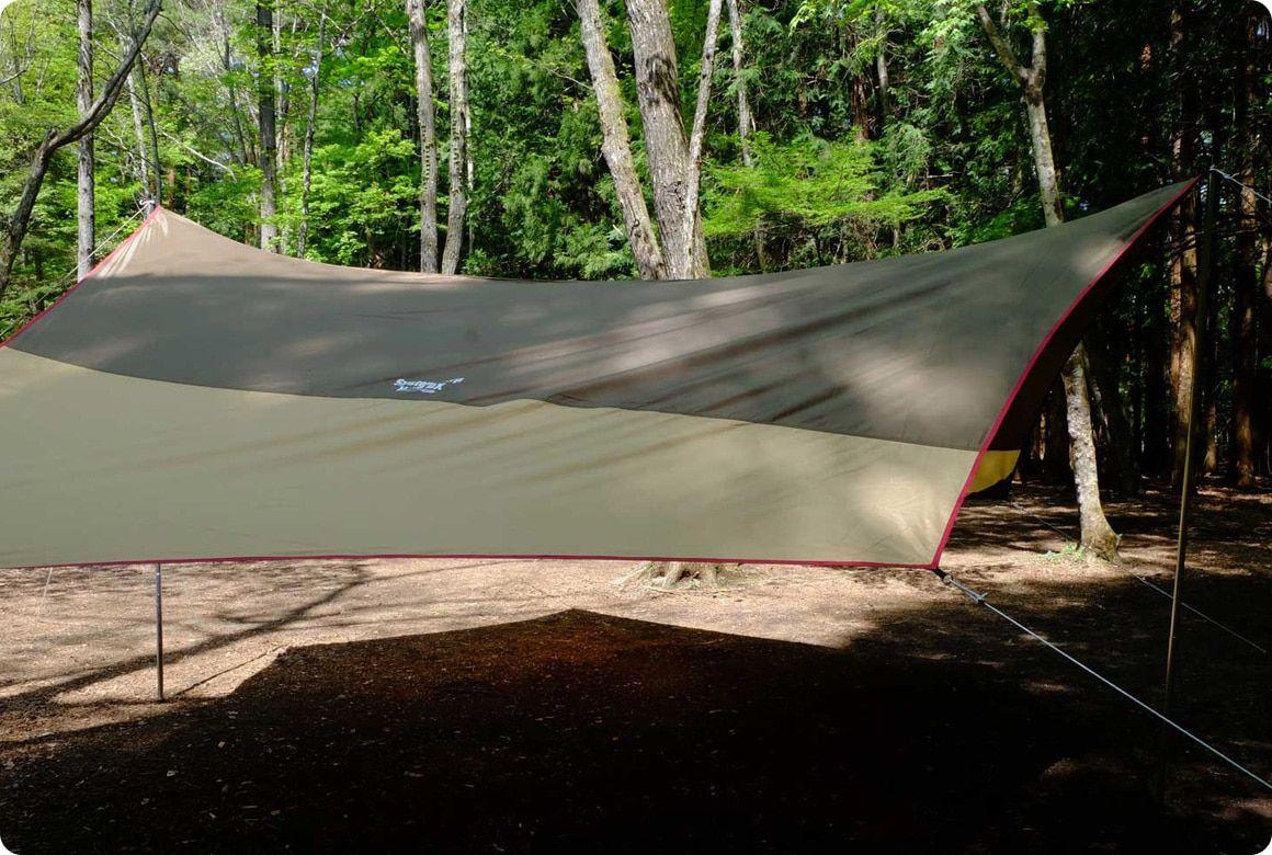 ひとりでも美しく張れる オープンタープの張り方 キャンプ道具のマメ知識 キャンプ キャンプ道具 タープ