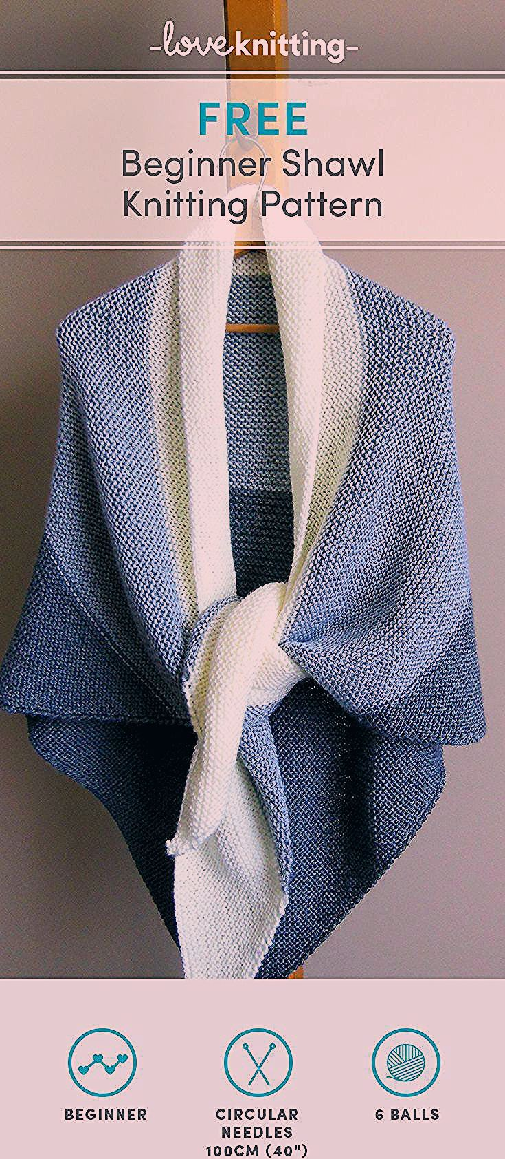 Photo of Free Shawl Knitting Pattern for beginners