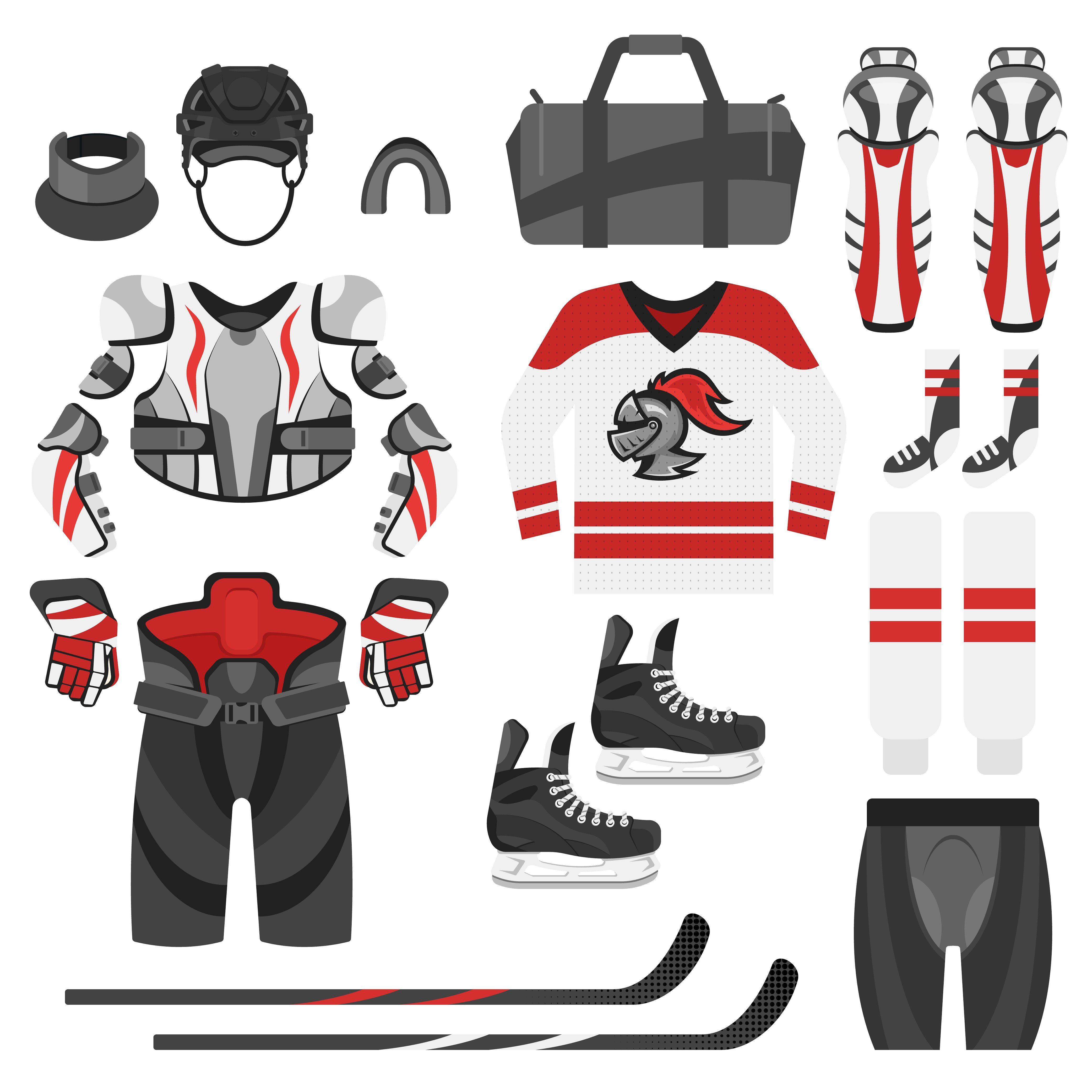 Hockey Equipment Two Colors Hockey Equipment Fashion Set Fashion Flats