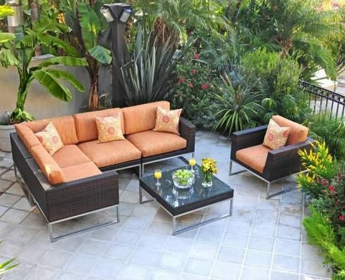 Sapele Wood Outdoor Sectional Sofa Outdoor Outdoor Sectional
