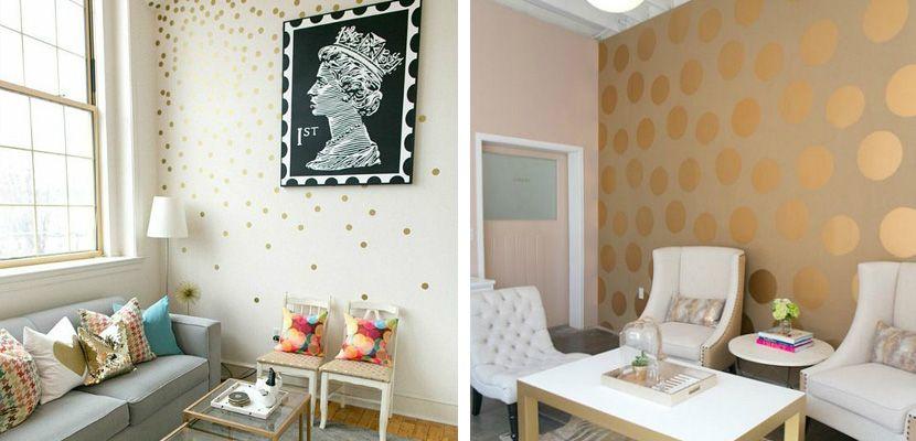 decorar el saln con lunares en las paredes httpdecoora