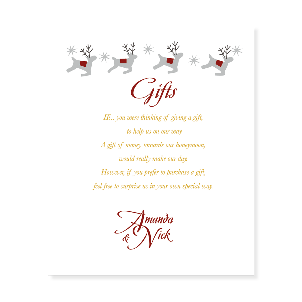 Wedding Invitation Gift List Wording