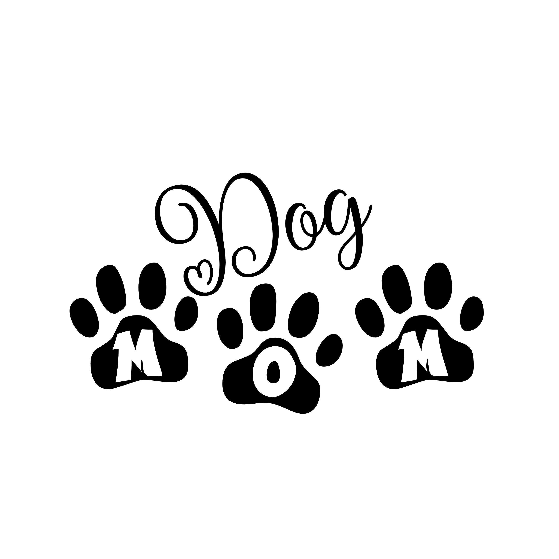 Dog Mom with Paws SVG Digital File Instant Download svgjpgpng