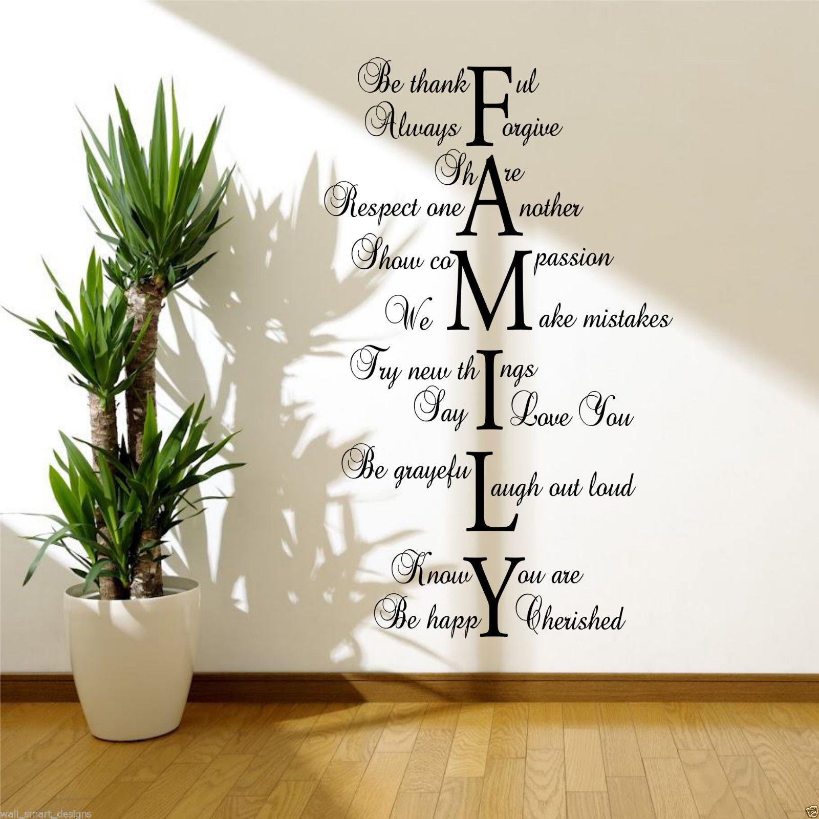 Life Wall Quotes Bedroom Wall Stickers Ebay Family Love Life Art Sticker Quote Room