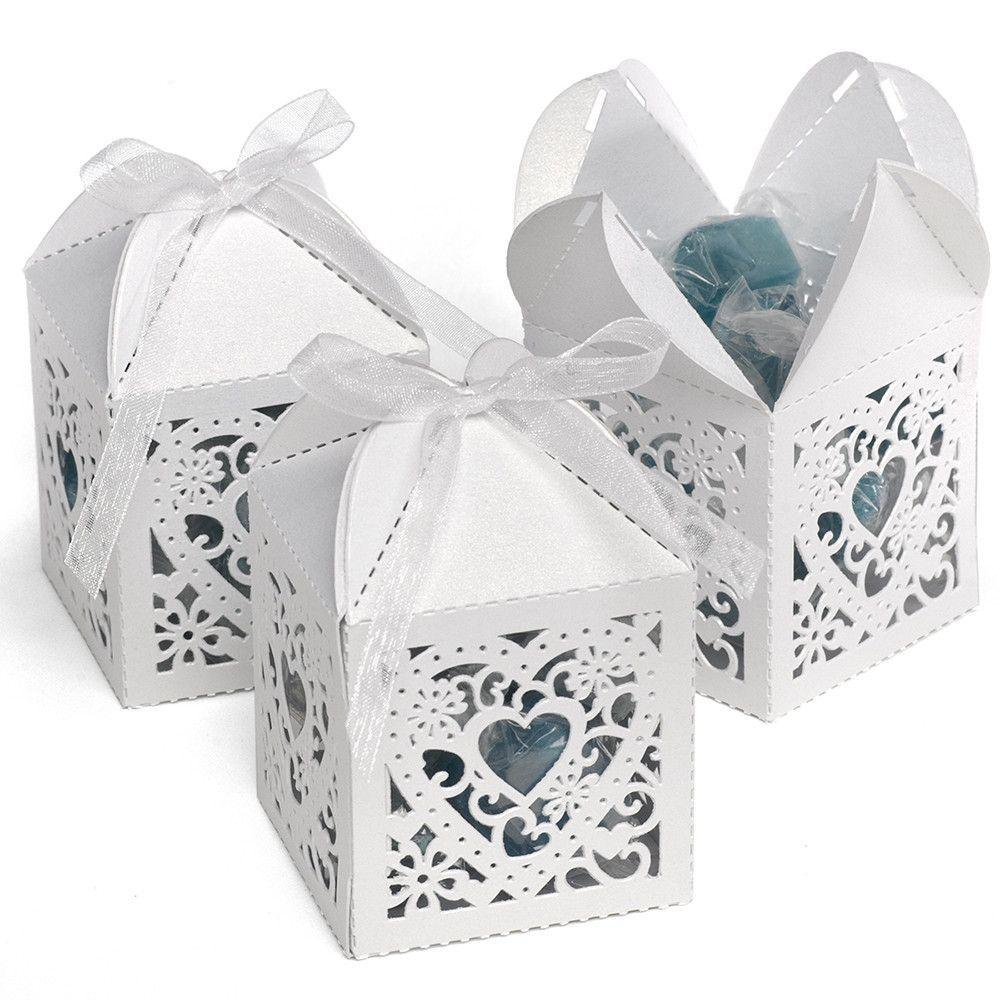 Decorative Die Cut Wedding Favor Boxes (Pack of 25) | Favors ...