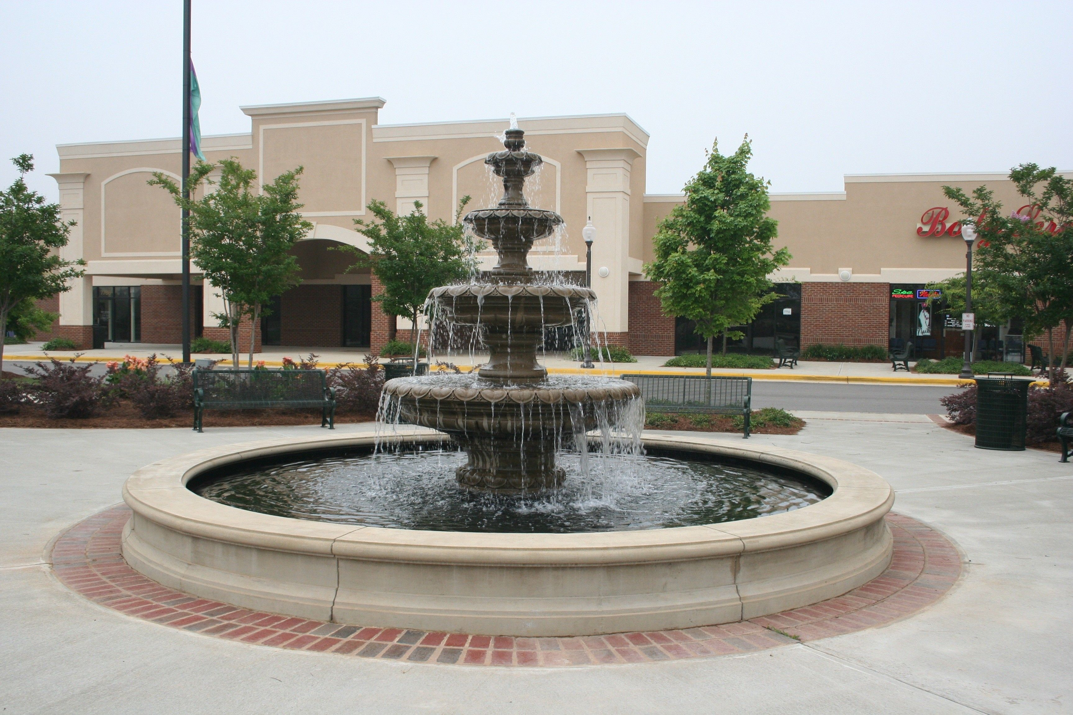 architectural fountains | 18' Fountain Pool with Four Tier Classic Leaf
