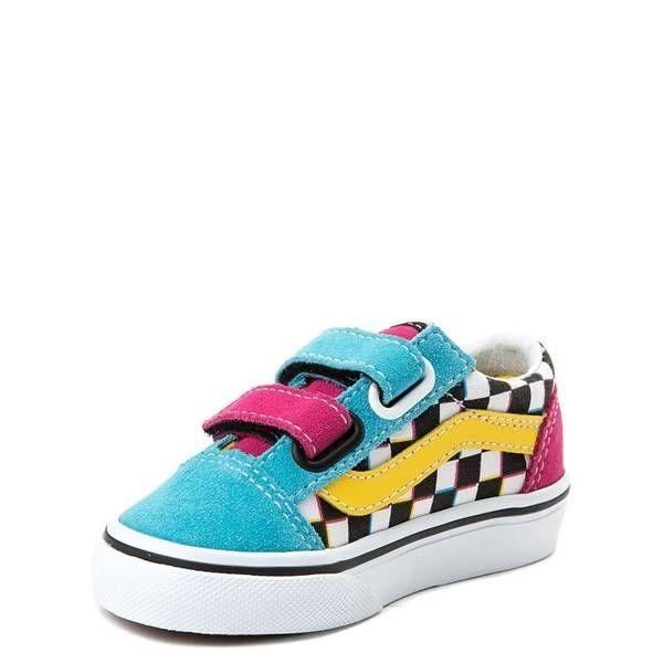 62b2d5418b9951 Toddler Vans Old Skool V Chex Skate Shoe