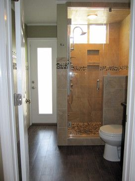 Traditional Bathroom Wood Appearance Porcelain Tile Design Ideas, Pictures, Remodel, and Decor - page 2