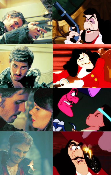 Once upon a time hook and tinkerbell