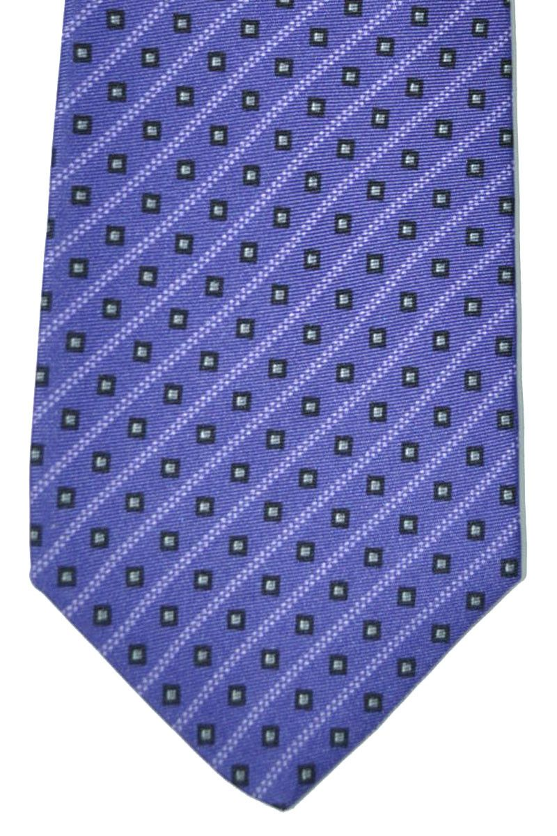 Versace tie, purple striped, silk, made in Italy