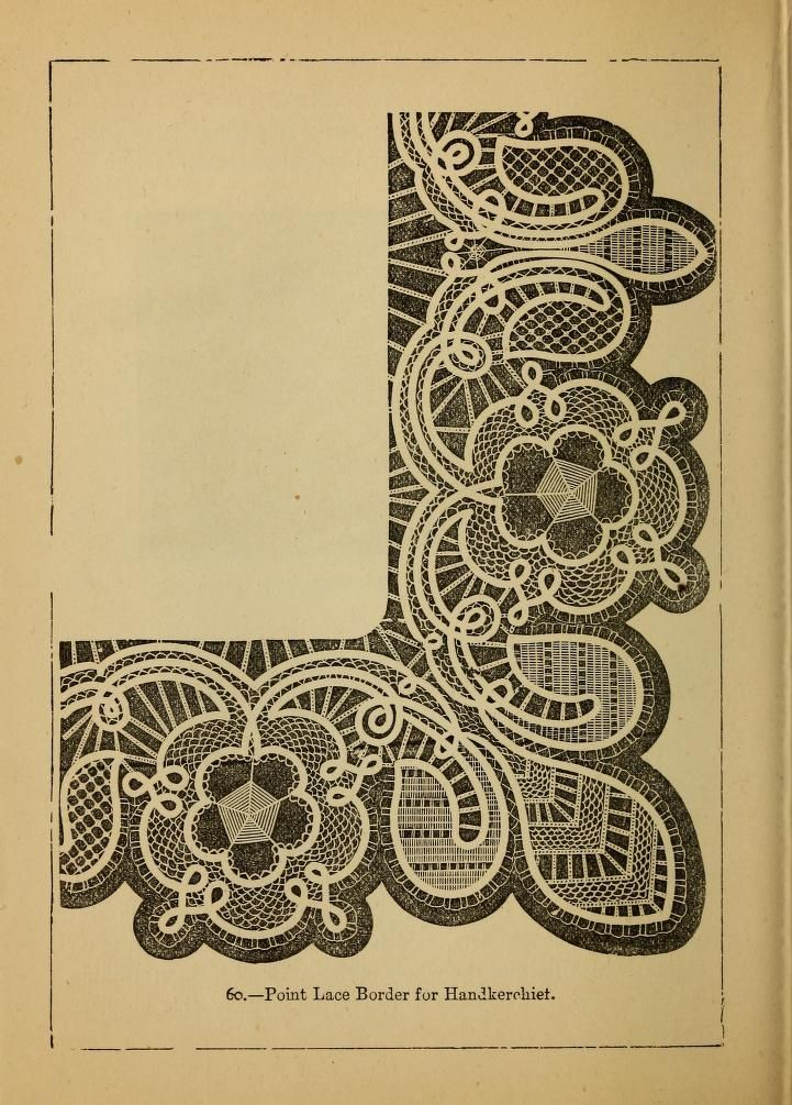 Point Lace Border pattern from Madame Goubaud's Point Lace Book