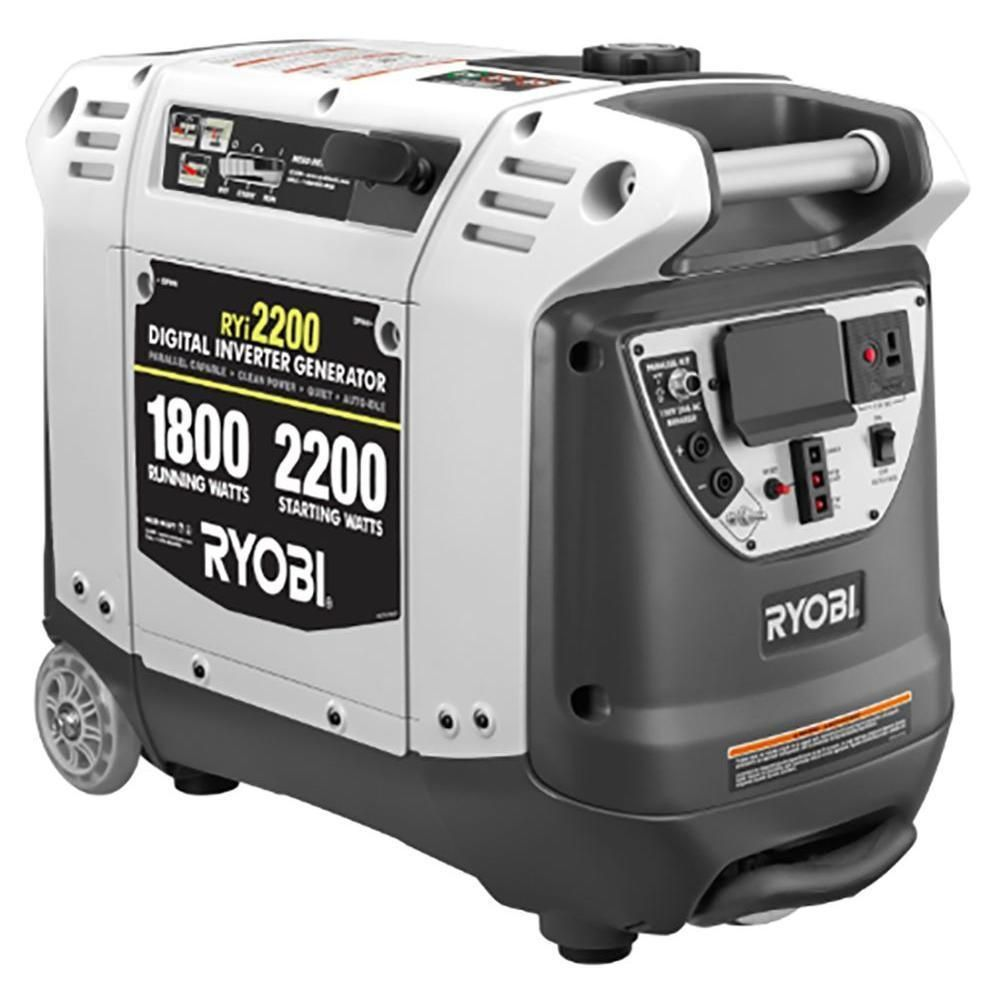 Home Depot Ryobi Inverter Generators 2200 Watts 430 1000 W 300 6500 W 900 Non Inverter And Electric Snow Solar Panels For Home Ryobi Inverter Generators