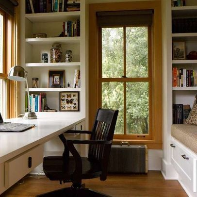 Cute office nook Nettly Wood Cottage Living Pinterest