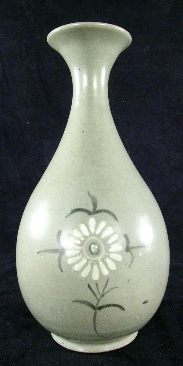 375 Korean Celadon Pottery Vase On Art Korean Antiques