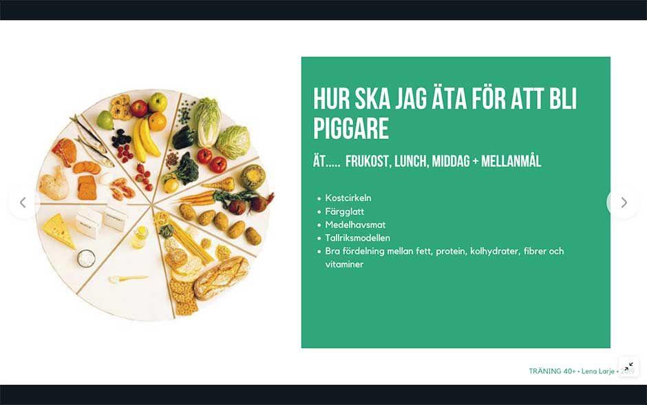 äta och träna