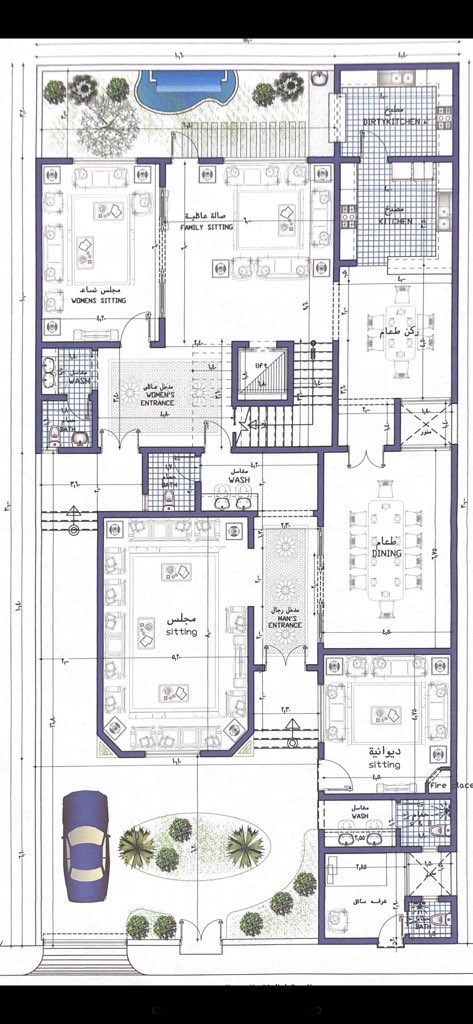 مخططات فلل Al1000a تويتر Square House Plans 40x60 House Plans Building Plans House