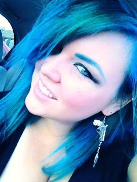 Blue Hair Blue Green Hair Dyed Hair Green Hair