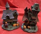 Lot Of 2 Battery Power Multicolor Light-Up Haunted Halloween Village House #Holiday #halloweenvillage Lot Of 2 Battery Power Multicolor Light-Up Haunted Halloween Village House #Holiday #halloweenvillagedisplay