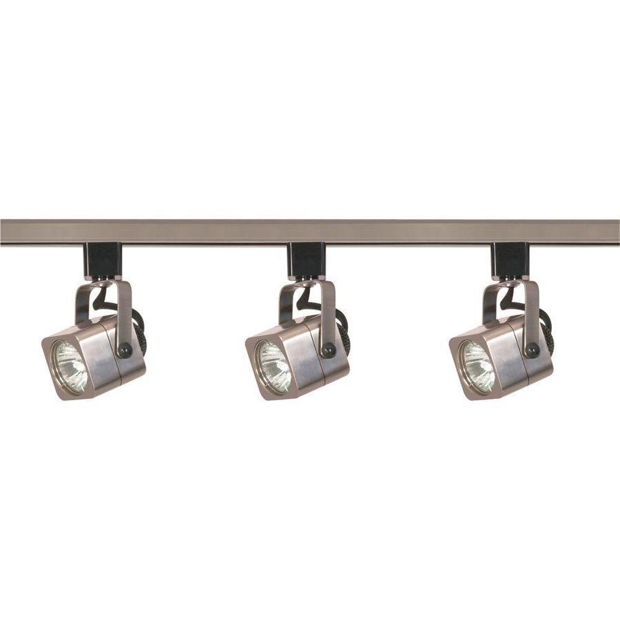 3 Light 48 In Brushed Nickel Standard Linear Track Lighting Kit Lowes Com Track Lighting Fixtures Track Lighting Kits Led Track Lighting