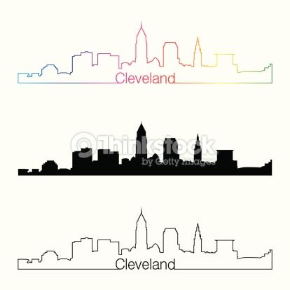 Cleveland skyline silhouette outline google search for Cleveland skyline tattoo