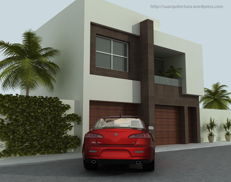Fachadas minimalistas fachada minimalista con s tano com for Fachadas minimalistas