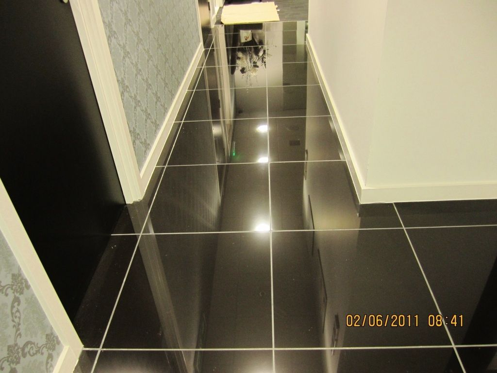 Gooddesign Black Ceramic Floor Tile