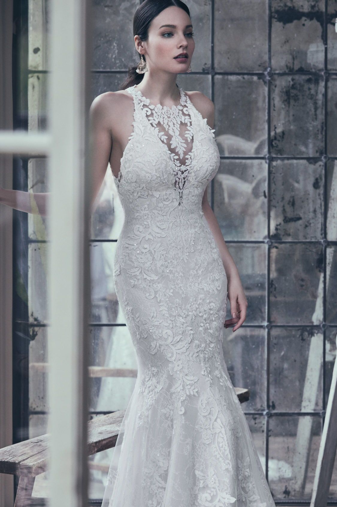 Maggie sottero 9mt111 this lace gown features lace
